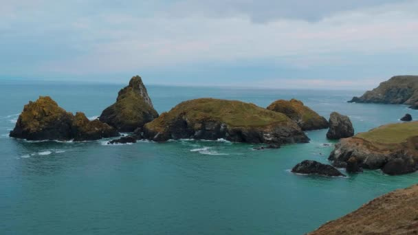 Cornwall England - view over the amazing landcape at the coastline