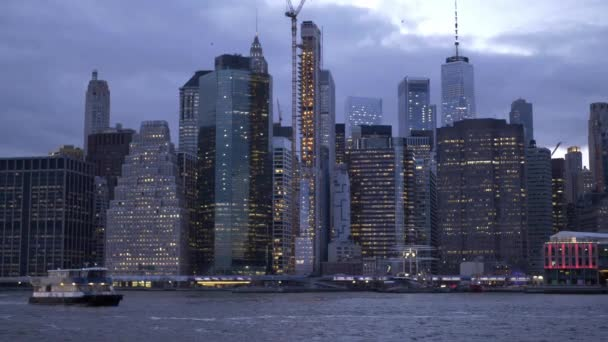Amazing view over the skyline of Manhattan from Hudson River New York