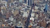 Ulic a budov, Manhattan New York z výše