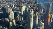 New York-i Manhattan bámulatos légi kilátást felülről