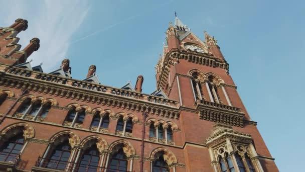 Beautiful facade of St Pancras International train station in London