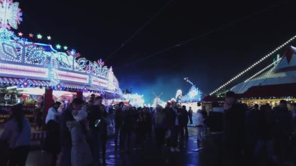 Huge Winter Wonderland Christmas fair in London - LONDON, ENGLAND - DECEMBER 16, 2018