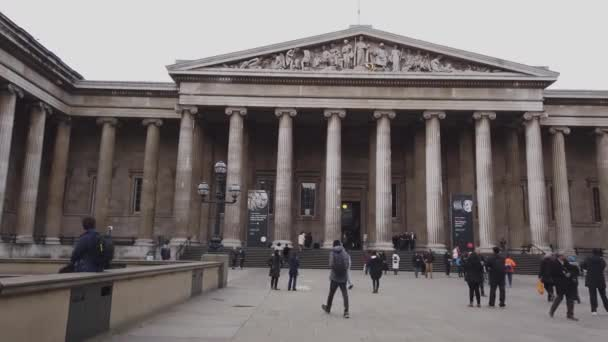The British Museum in London at Russell Square - LONDON, UNITED KINGDOM - DECEMBER 16, 2018