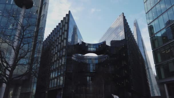 Modern architecture and office buildings in London - LONDON, ENGLAND - DECEMBER 16, 2018