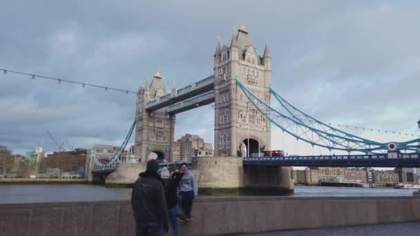 Tower Bridge is the most famous landmark in London - LONDON, ENGLAND - DECEMBER 16, 2018