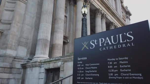 St Pauls London the famous Cathedral in the city - LONDON, ENGLAND - DECEMBER 16, 2018