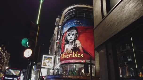 Les Miserables Musical at Shaftesbury Avenue London - LONDON, ENGLAND - DECEMBER 16, 2018