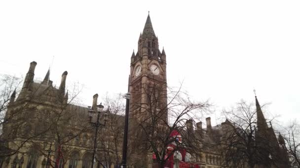 Manchester Town Hall at Albert Square - MANCHESTER, UNITED KINGDOM - JANUARY 1, 2019