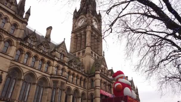 Amazing building of Manchester town hall - MANCHESTER, UNITED KINGDOM - JANUARY 1, 2019