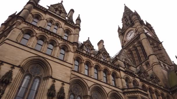 Manchester Town Hall at Albert Square - MANCHESTER, ENGLAND - JANUARY 1, 2019