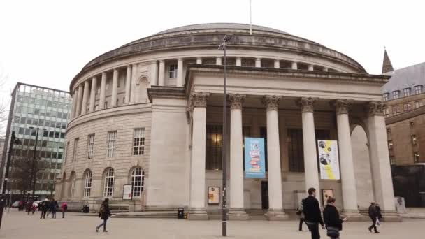 Round building of Manchester Central Library - MANCHESTER, UNITED KINGDOM - JANUARY 1, 2019