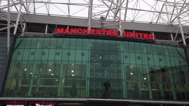 Manchester United football stadium - MANCHESTER, UNITED KINGDOM - JANUARY 1, 2019