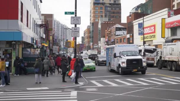 Angolo di strada di New York a Flushing