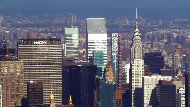 Aerial view over Manhattan and its famous skyscrapers