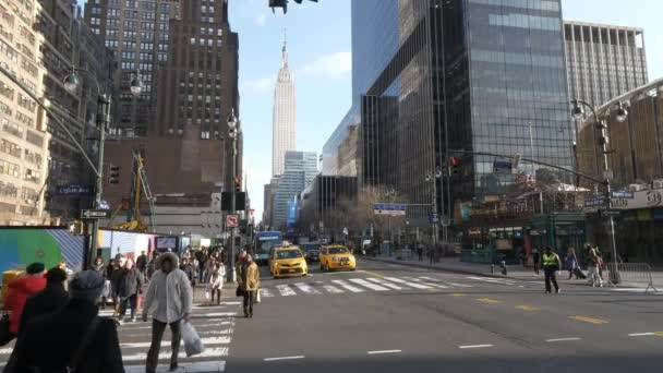 Rohu ulice na Manhattanu s výhledem přes Empire State Building - Manhattan - New York - 04 prosinec 2018