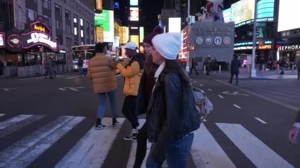A Times Square, Manhattan éjszakai séta