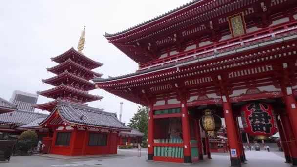 Amazing Pagoda at famous Sensoji temple in Tokyo Asakusa - TOKYO, JAPAN - JUNE 12, 2018