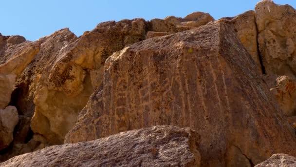Látványos Native American Petroglyohs a Chalfant Valley