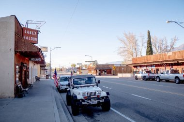 Street view in the historic village of Lone Pine - LONE PINE CA, UNITED STATES OF AMERICA - MARCH 29, 2019