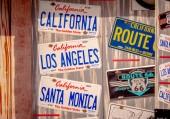 Santa Monica California Car plate - LOS ANGELES, USA - MARCH 29, 2019