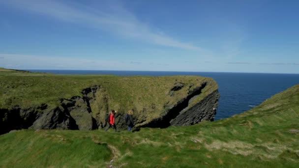 Amazing Atlantic coast of Ireland with its steep cliffs