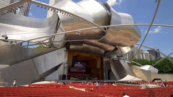 Jay Pritzker Pavilion at Chicago Millennium Park - CHICAGO, USA - JUNE 11, 2019