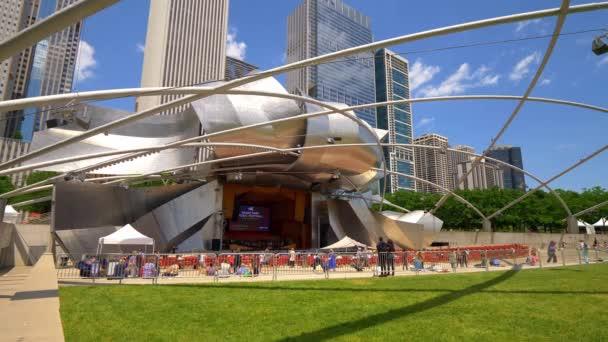 Jay Pritzker Pavilion at Chicago Millennium Park - CHICAGO. UNITED STATES - JUNE 11, 2019