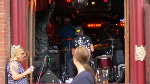The music stages in the bars on Nashville Broadway - NASHVILLE, TENNESSEE - JUNE 16, 2019