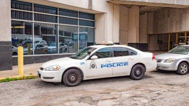 St Louis Metropolitan Police car in the city - ST. LOUIS, MISSOURI - JUNE 19, 2019