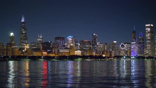 Chicago látképe este
