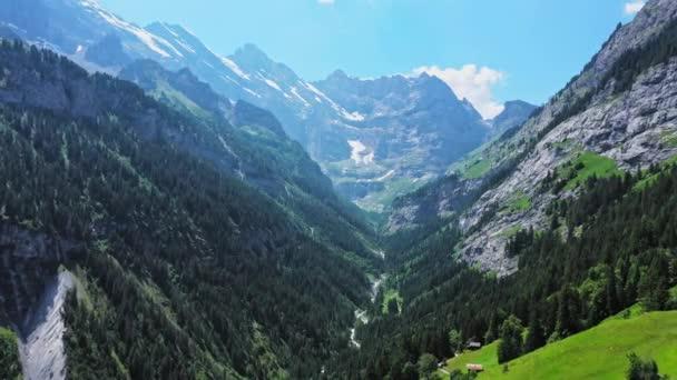 Krásný ledovec ve švýcarských Alpách-Švýcarsko shora