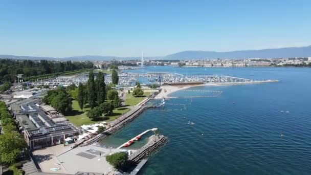 Lake Geneva in Switzerland from above
