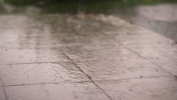 Closeup Gibt Es Regen Dusche Große Schwere Tropfen Tropfen Auf - Dusche große fliesen
