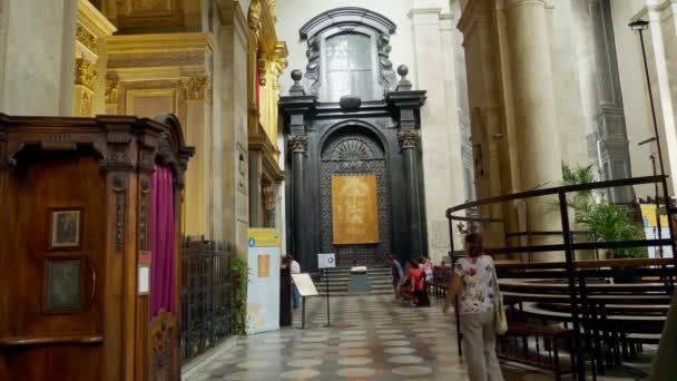 TORINO, ITALY - JULY 7, 2018: Interior of Turin Cathedral Duomo di Torino ,  built in 1470  It is the Chapel of the Holy Shroud the current resting  place of the Shroud of Turin