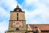 Fotografie Europe, Romania, Brasov, Council Square, Black Church.Clock tower.