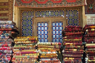 Islamic Republic of Iran. Isfahan. Carpet sales shop.