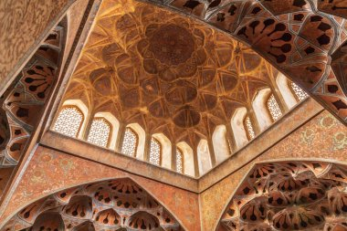 Islamic Republic of Iran. Isfahan. Ali Qapu grand palace, located on the western side of the Naqsh e Jahan Square. UNESCO World Heritage Site. 6th floor Music Hall.