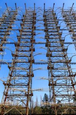 Eastern Europe, Ukraine, Pripyat, Chernobyl. Duga-1 radar array. stock vector