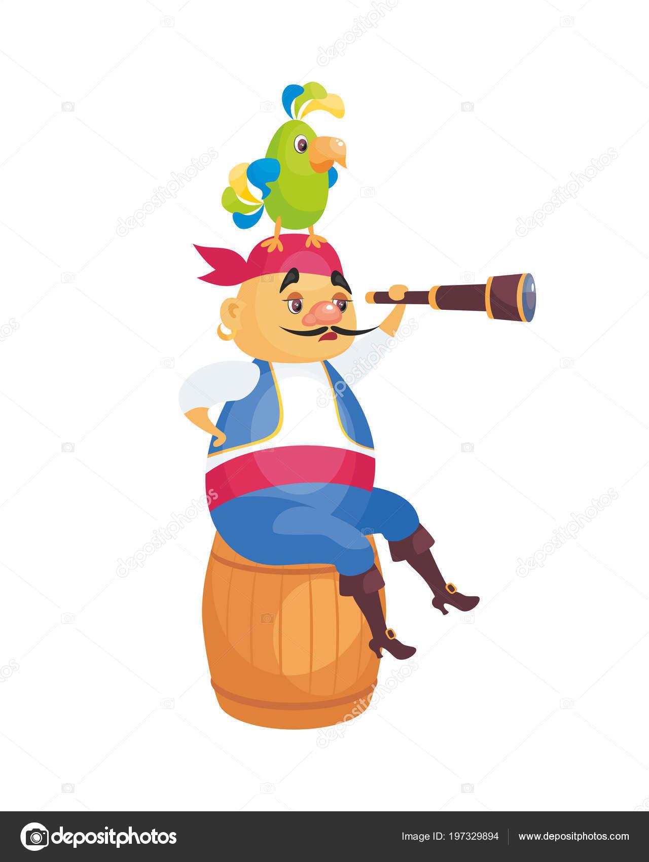 Immagine vettore pirata stile cartone animato illustrazione infanzia