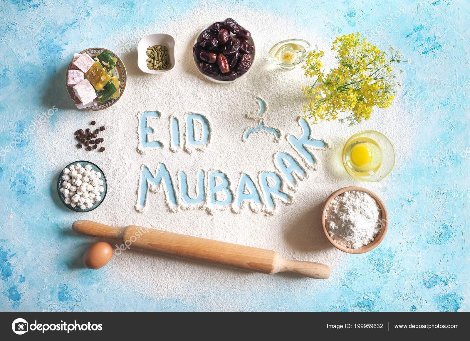 Eid mubarak islamic holiday welcome phrase happy holiday eid mubarak islamic holiday welcome phrase happy holiday greeting reserved arabic baking background photo by sablinstanislav m4hsunfo