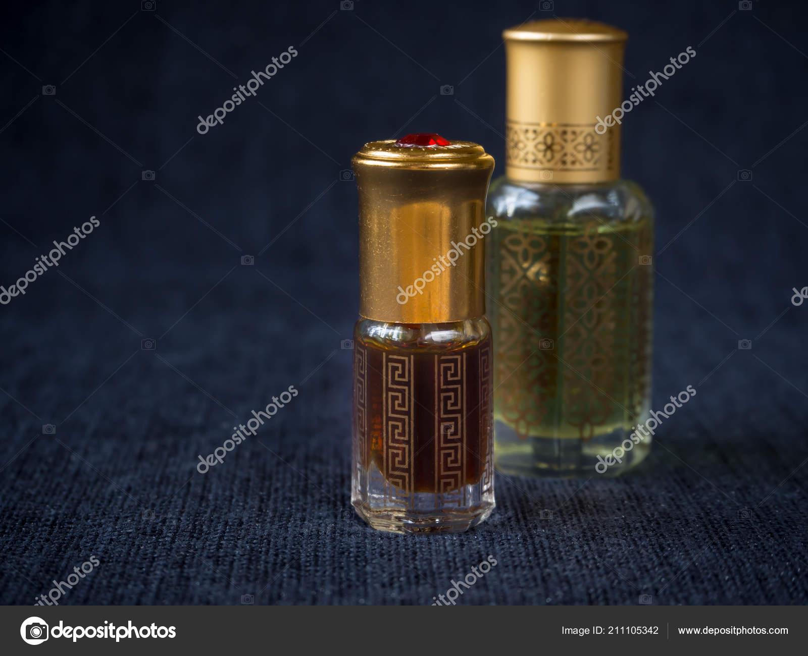 Arabian oud attar perfume or agarwood oil fragrances in mini