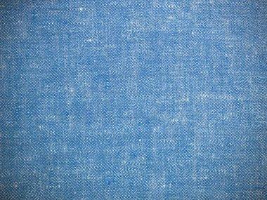 Vintage blue texture linen fabric. Blue linen.