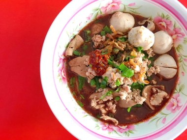 Thai style food noodle called