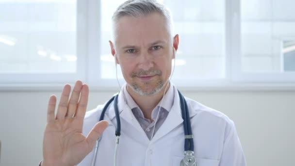 Videochat mit Patient durch Arzt