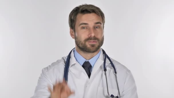 Portrait of Doctor Gesturing  Okay Sign