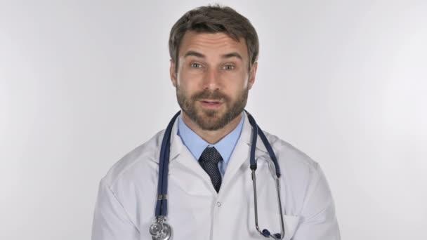 Portrét doktor hlavou přijmout, ano