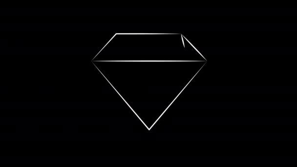 Klenot drahokamů. Diamantová ruka nakreslena.
