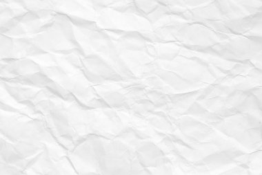 The texture of white paper with kinks. Background of crumpled cardboard.