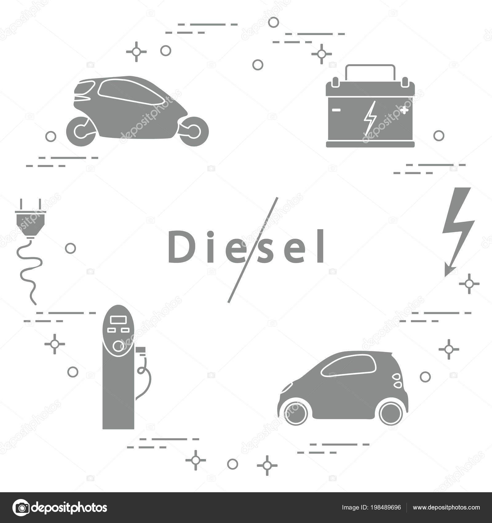 Verbod Dieselmotoren Vervoer Milieuvriendelijk Elektrische Auto Accu