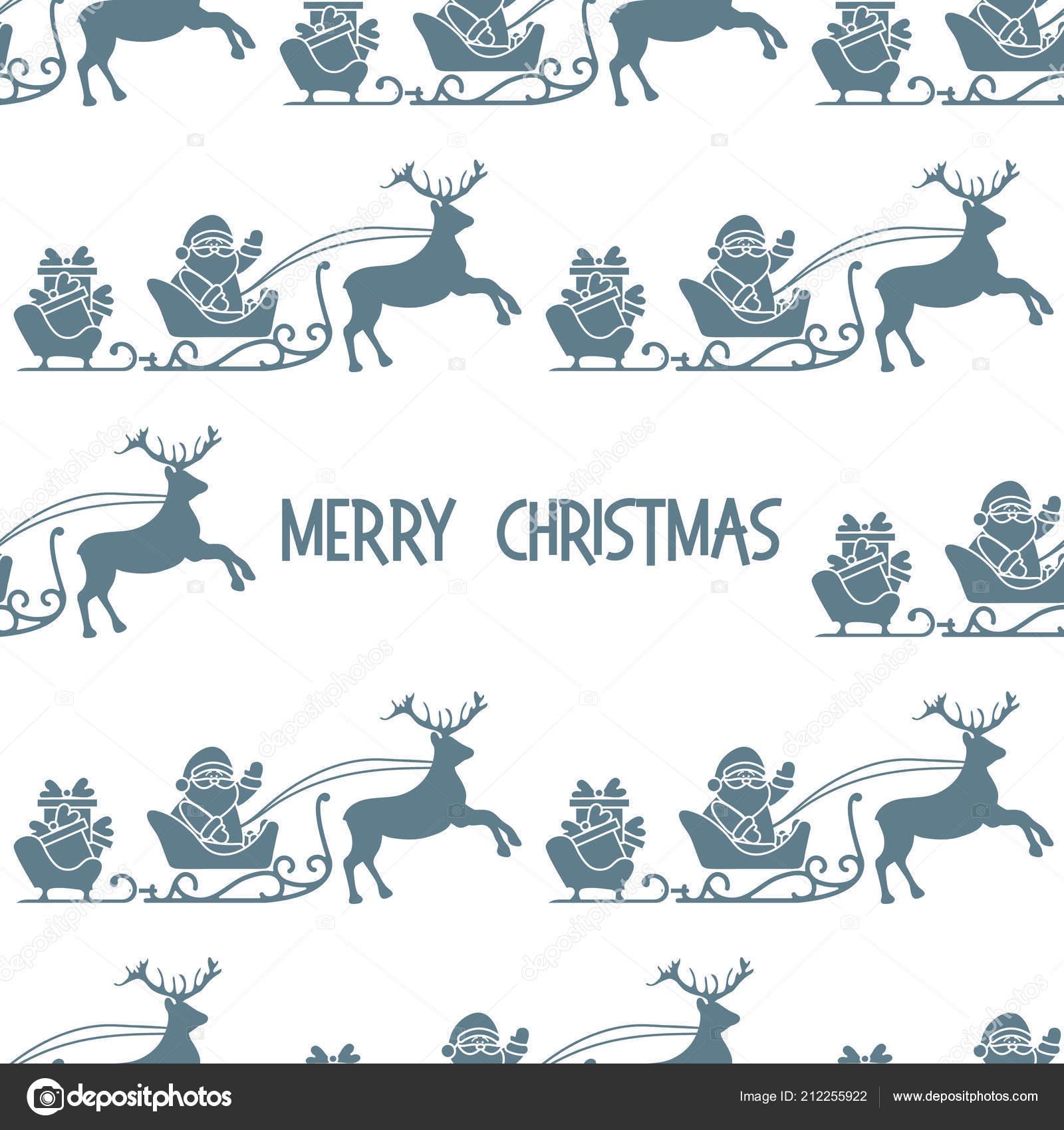 Navidad 2019 Patrones Sin Fisuras Vector Ilustración Santa Claus Con ...